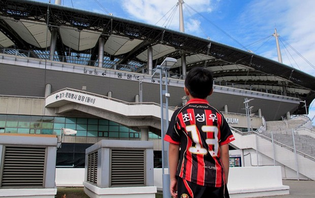 World Cup Stadium local do amistoso entre Brasil e Coreia do Sul (Foto: Marcio Iannacca)