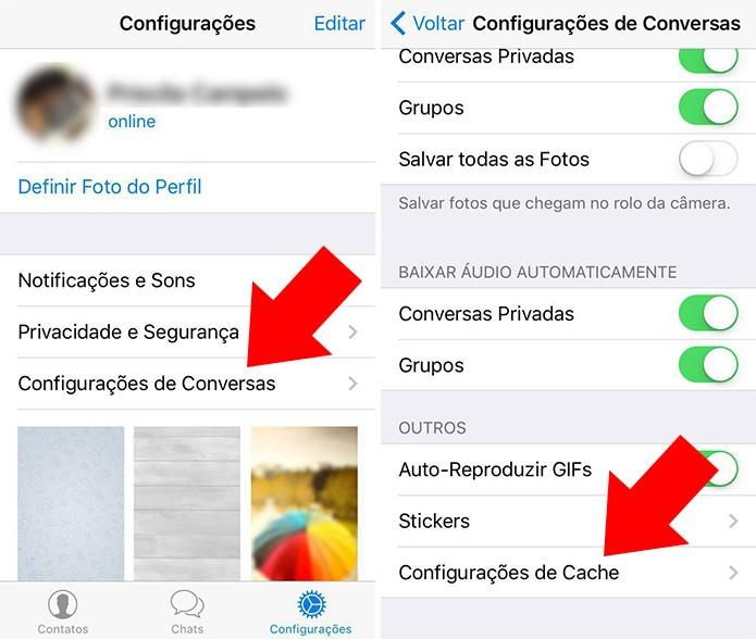 Acesse as configurações de cache (Foto: Reprodução/Paulo Alves)