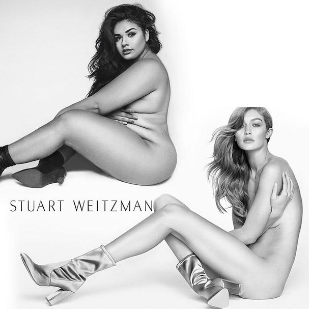 Modelo plus-size recria foto de Gigi Hadid (Foto: Instagram/Reprodução)