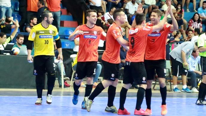 Carlos Barbosa, Orlândia, Final, Liga Futsal, Uberaba (Foto: Enerson Cleiton / Jornal de Uberaba)