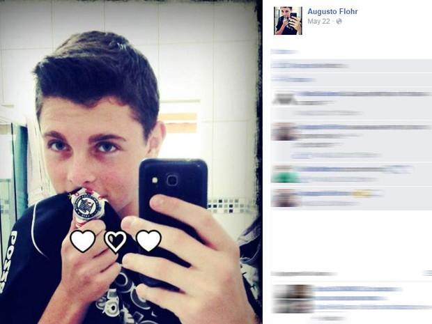 Augusto Flohr, de 16 anos, morreu após sofrer infarto no futebol (Foto: Reprodução / Facebook)