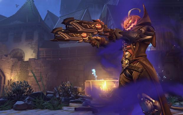 Reaper ganhou novo traje em evento temático de 'Overwatch' (Foto: Divulgação/Blizzard)