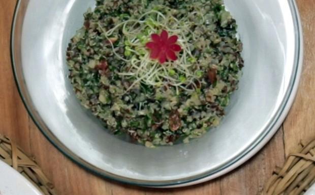 Tabule de quinoa: receita da Bela Gil para o Bela Cozinha (Foto: Reproduo/GNT)