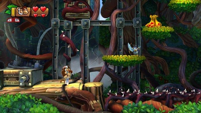 Cranky Kong é um dos novos personagens do game (Foto: Reprodução/Murilo Molina)