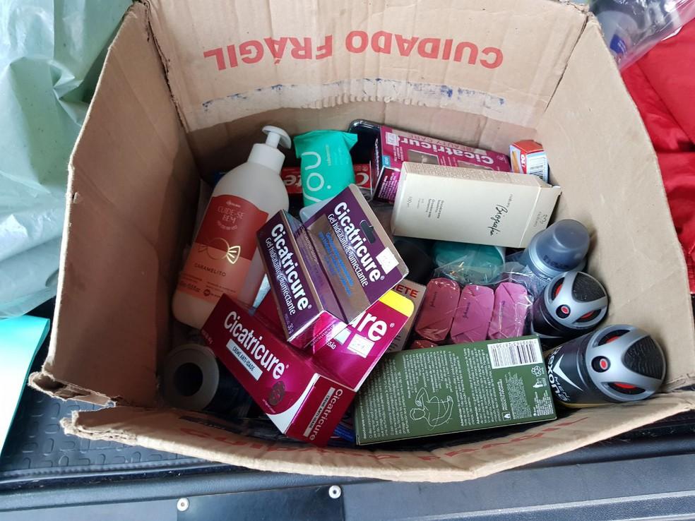 Produtos furtados de farmácias foram recuperados (Foto: Cedida/Polícia Civil)