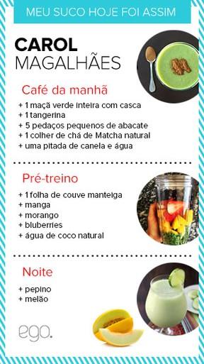 Sucos da Carol Magalhães (Foto: EGO)