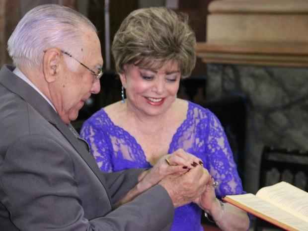 Casal esperou 60 anos para casar no religioso (Foto: Suelen Gonçalves/ G1 AM)