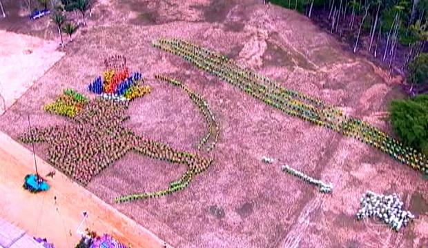 Coreografia foi a mais votada no quadro Dança da Galera. (Foto: Bom Dia Amazônia)