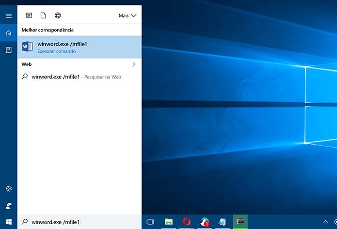 Digite comando na caixa de diálogo da Cortana para abrir último documento (Foto: Reprodução/Elson de Souza)