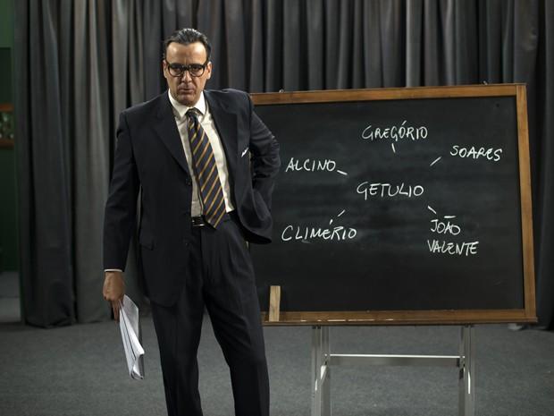 Alexandre Borges vive Carlos Lacerda em 'Getúlio' (Foto: Divulgação)