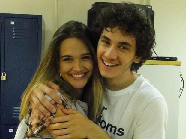 Grandes amigos, é certo o clima de descontração no set (Foto: Malhação / Tv Globo)