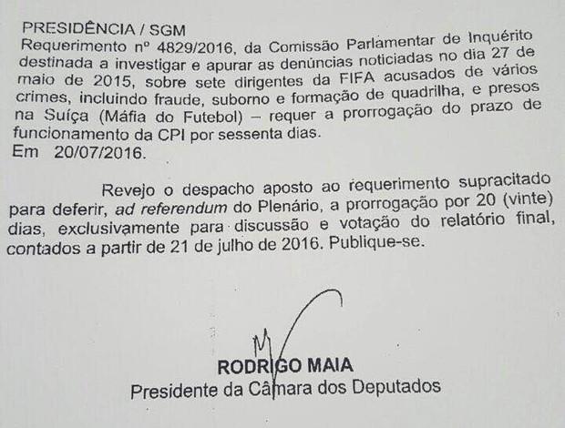 BLOG: Após encerrada, CPI da Máfia do Futebol ganha mais 20 dias