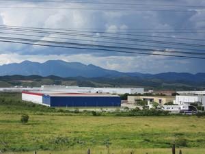 Polo industrial em Resende terá que alterar captação de água (Foto: Marcelo Elizardo/ G1)
