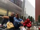 Flávia Alessandra e Otaviano Costa viajam para NY com a família