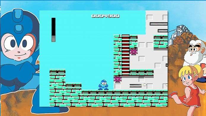 Mega Man Legacy Collection com Mega Man 1 (Foto: Reprodução/Felipe Vinha)