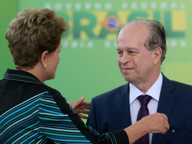 Dilma posse Renato Janine Ribeiro MEC (Foto: Joel Rodrigues/Frame/Estadão Conteúdo)