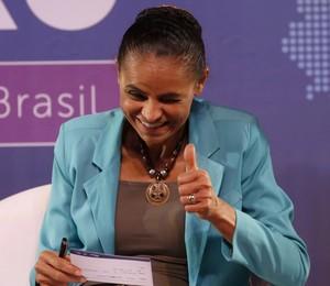 Marina Silva (PSB) participa de encontro com empresários no centro do Rio (Foto: Ivo Gonzalez / Agencia O Globo)