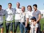 Sírios agredidos por cinegrafista húngara conhecem Cristiano Ronaldo
