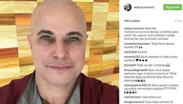 Walcyr Carrasco comenta momento de Edson Celulari (Foto: Instagram / Reprodução)