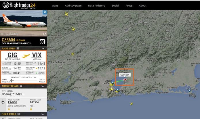 Monitore o tráfego aéreo de aviões com mapa ao vivo (Foto: Reprodução/Barbara Mannara)