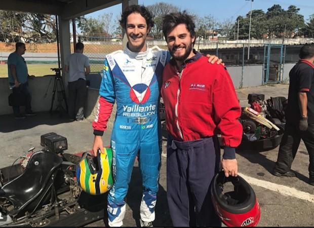 Bruno Senna e Hugo Bonemer (Foto: Reprodução/Instagram)
