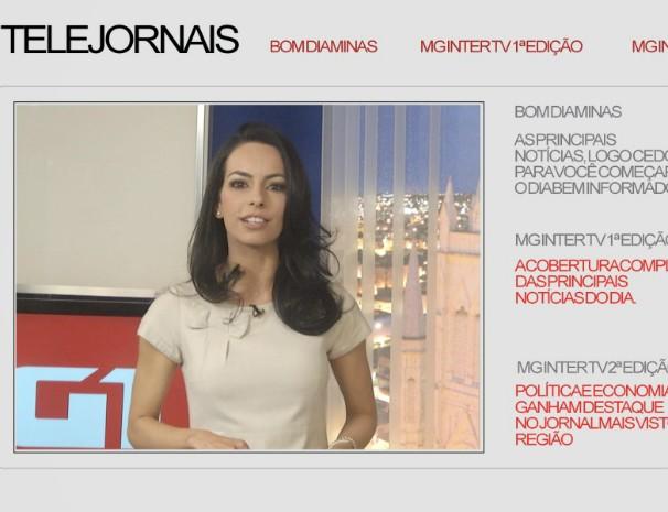 Maira Botelho apresenta nova campanha institucional do G1 Grande Minas. (Foto: Reprodução / Inter TV MG)