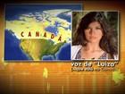 'É estranho, mas levo na brincadeira', diz Luíza, que está no Canadá