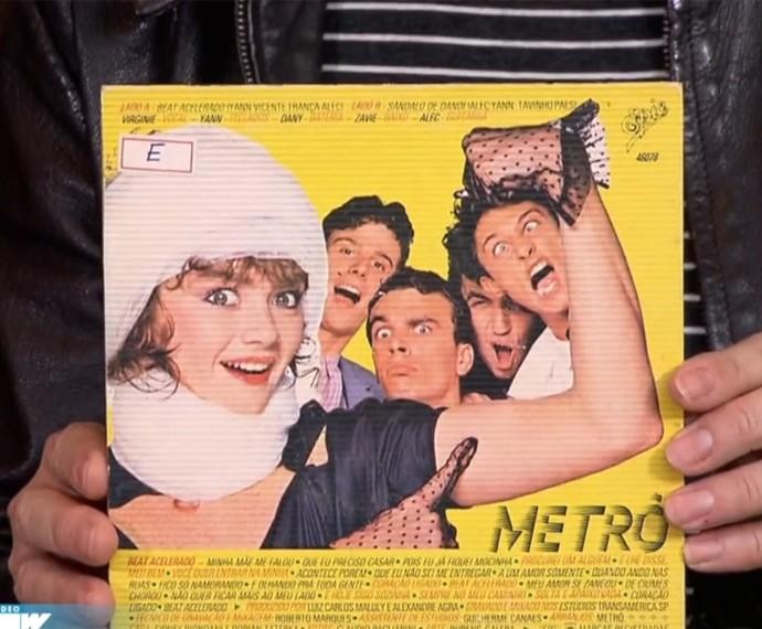 LP do grupo Metrô da década de 1980 (Foto: Vídeo Show / Gshow)