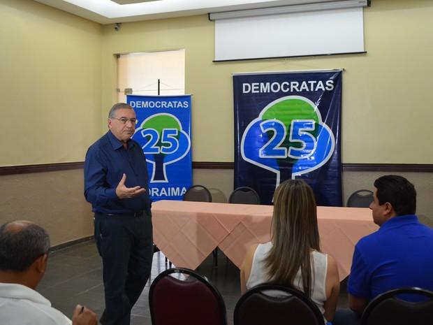 Paulo César Quartiero (DEM) anunciou nesta terça-feira (14) a saída da base aliada da governadora Suely Campos (PP) (Foto: Emily Costa/ G1 RR)