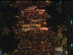 Protestos no Rio  (Foto: Reprodução Globo News)