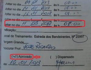 Jogador acreano faz teste no Flamengo (Foto: João Paulo Maia)