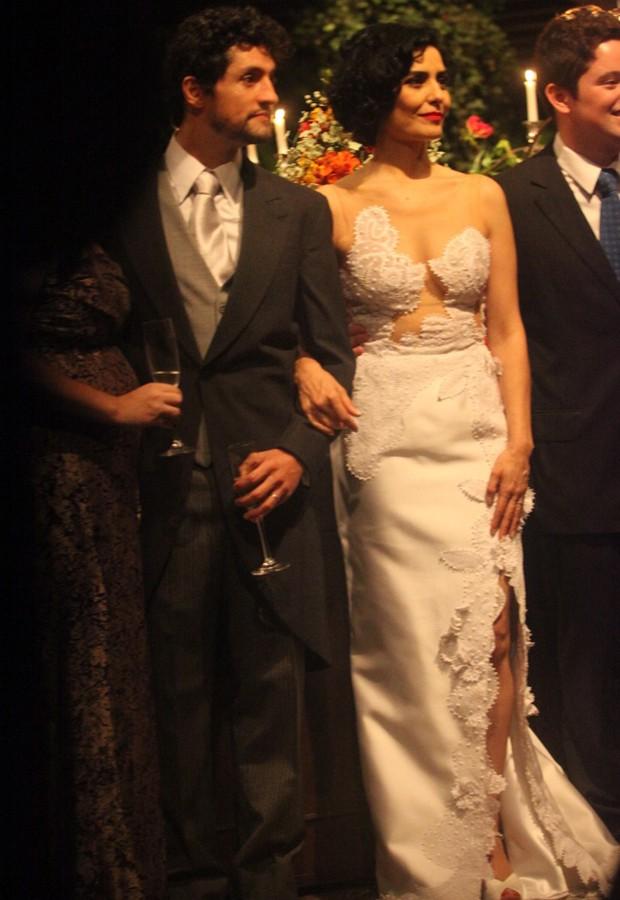 Fernando Alves Pinto e Letícia Sabatella (Foto: Leo Franco e Thiago Duran/AgNews)