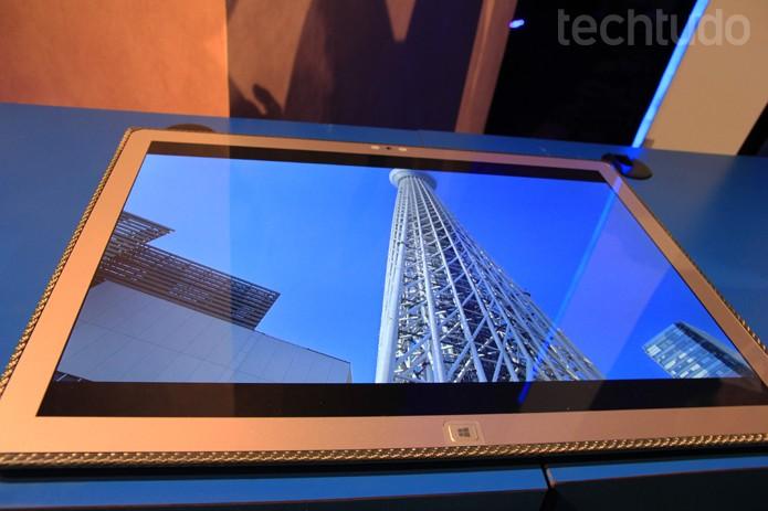 A Panasonic investe na tecnologia 4K e lança o Toughpad, um tablet 4K com tela de 20 polegadas (Foto: Monique Mansur/TechTudo)