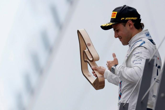 Felipe Massa no pódio do GP da Áustria (Foto: Reprodução)