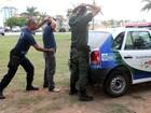 Guardas municipais de Macaé, RJ, fazem curso de patrulhamento urbano