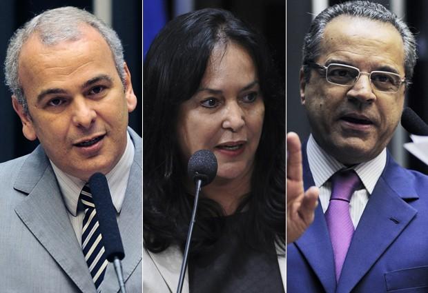 Júlio Delgado (PSB-MG), Rose de Freitas (PMDB-ES) e Henrique Alves (PMDB-RN), que devem disputar comando da Câmara em fevereiro (Foto: Agência Câmara/Agência Brasil)