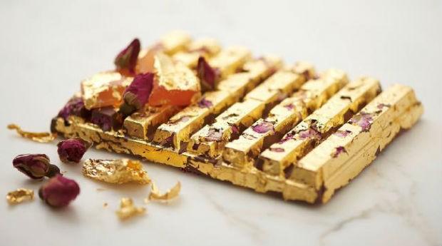 Kit Kat com ouro, vendido no Japão (Foto: Nestle)
