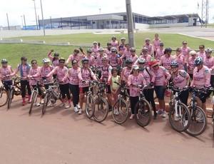 Grupo de ciclistas de Cacoal (Foto: Olita Santiago/Arquivo Pessoal)