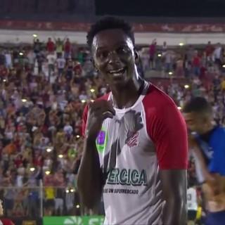 Matheus Brendon zagueiro do Paulista, Copa São Paulo (Foto: Reprodução / SporTV)