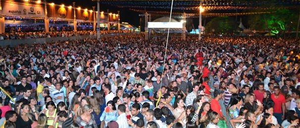 Público lotou o sítio Terêncio (Foto: TV Sergipe/Divulgação)