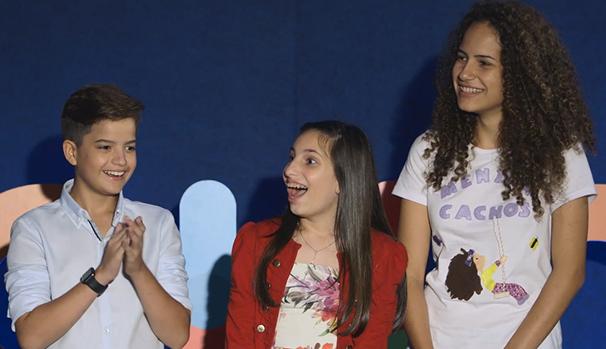 Marlova convidou os jovens a irem a Brasília, onde fica a sede da Unesco no Brasil (Foto: Globo)
