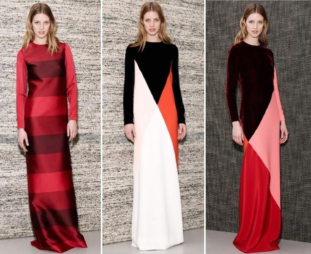 Minimal: os longos em blocos de cores que em breve devem aparecer no red carpet (Foto: Reprodução)
