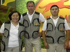 Adestradores do quadro mostram o Free Style e o Agility (Domingão do Faustão / TV Globo)