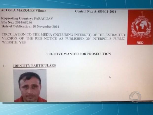 Ex-prefeito paraguaio apontado como mandante de assassinatos é preso em MS (Foto: Reprodução/TV Morena)