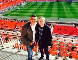 Torcedores Copa do Mundo em Natal Paul e Dave no Wembley (Foto: Paul Johal / Arquivo Pessoal)