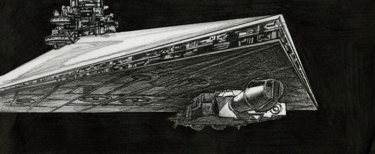 Arte usada na produção de Star Wars (Foto: Divulgação)