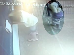 Adolescente fica ferido em ataque de cachorro em Piracicaba (Foto: Reprodução / Circuito interno)
