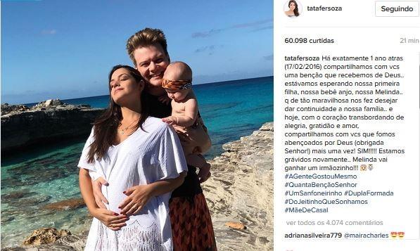Thais Fersoza e Michel Teló (Foto: Instagram / Reprodução)