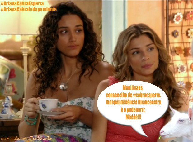 Taís e Ester (Foto: Flor do Caribe/TV Globo)