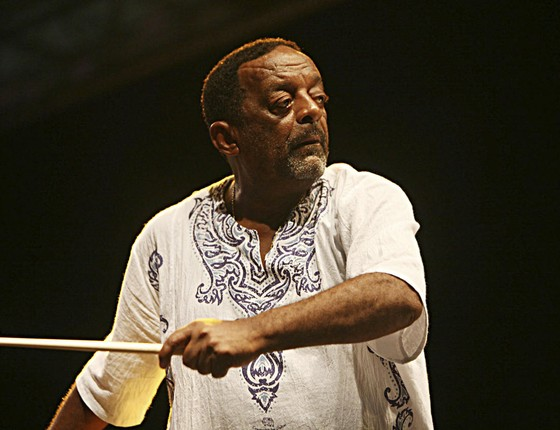 Naná Vasconcelos, ganhador de oito Grammys (Foto: Cido Marques)